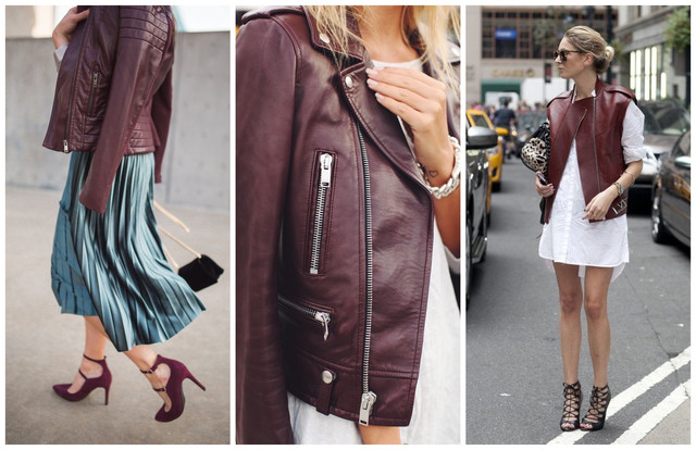 косуха летом бордовые кожаные куртки