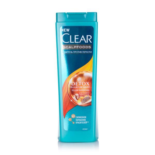 Увлажняющий шампунь для волосся Clear клеар Scalpfoods Detox против перхоти, 400 мл