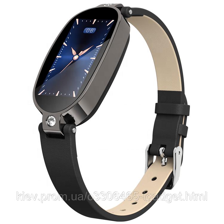 Умные часы фитнес браслет Finow B79 с тонометром и ЭКГ (Черный)