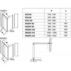 Душоввые двери Ravak Pivot PDOP1-90 білий+transparent 03G70100Z1, фото 2