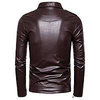 Мужская кожаная куртка. Модель 1898, фото 7