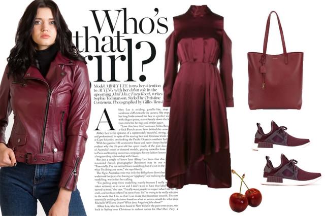 монохром бордовые кожаные куртки