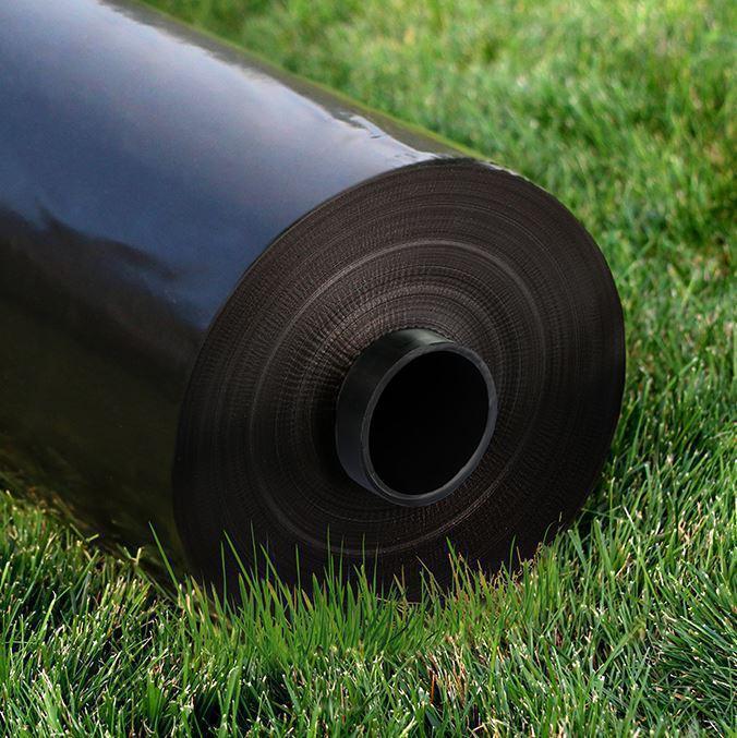 Пленка строительная полиэтиленовая черная 90 мкм 6*50м ГОСТ