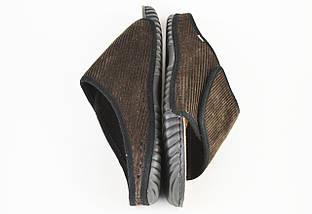 Тапочки мужские коричневые на липучке Inblu FM17, фото 2