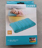 Intex Надувная подушка 68676 NP бирюзовая,43х28х9см, фото 1
