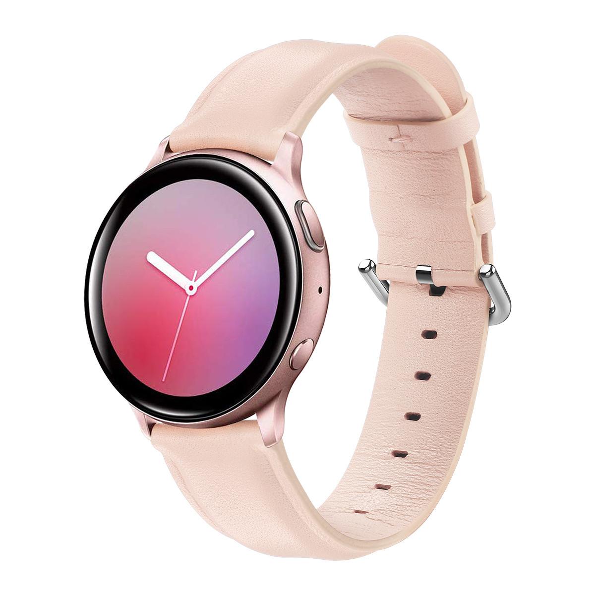 Ремешок для Samsung Active | Active 2 | Galaxy watch 42mm кожаный 20мм размер L Персиковый BeWatch (1220122)
