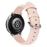 Ремешок для Samsung Active | Active 2 | Galaxy watch 42mm кожаный 20мм размер L Персиковый BeWatch (1220122), фото 2