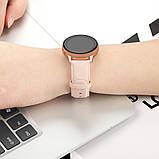 Ремешок для Samsung Active | Active 2 | Galaxy watch 42mm кожаный 20мм размер L Персиковый BeWatch (1220122), фото 4