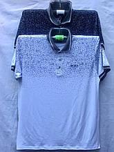 Футболка-поло мужская стильная BOSS размер 5XL-8XL батал купить оптом со склада 7км Одесса