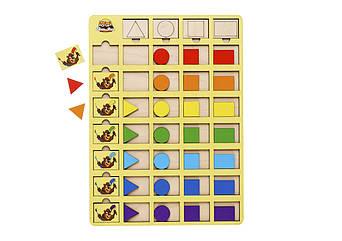 Сортер: Бобры-маляры -1 (с треугольником)