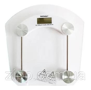 Напольные цифровые весы Matarix MX-451B квадратные прозрачные с дисплеем 180кг