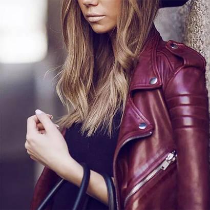 Кожаные куртки бордового цвета - какую выбрать и с чем носить (ФОТО)