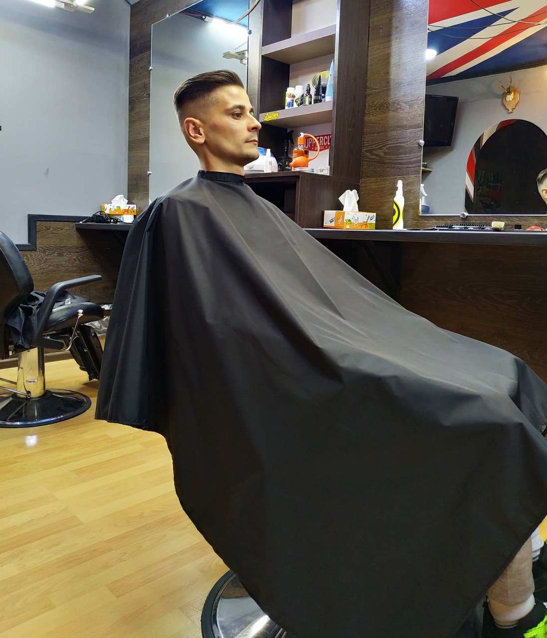 Пеньюар парикмахерский VSETEX | Накидка для клиента салона красоты