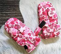 Краги для малышей розовые сердца