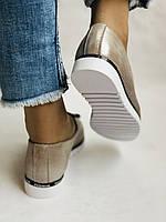 Жіночі туфлі -балетки з перфорацією на товстій підошві. Натуральна шкіра.36. 38.39.40. Супер комфорт., фото 4