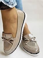Жіночі туфлі -балетки з перфорацією на товстій підошві. Натуральна шкіра.36. 38.39.40. Супер комфорт., фото 9
