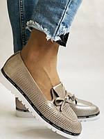 Жіночі туфлі -балетки з перфорацією на товстій підошві. Натуральна шкіра.36. 38.39.40. Супер комфорт., фото 7