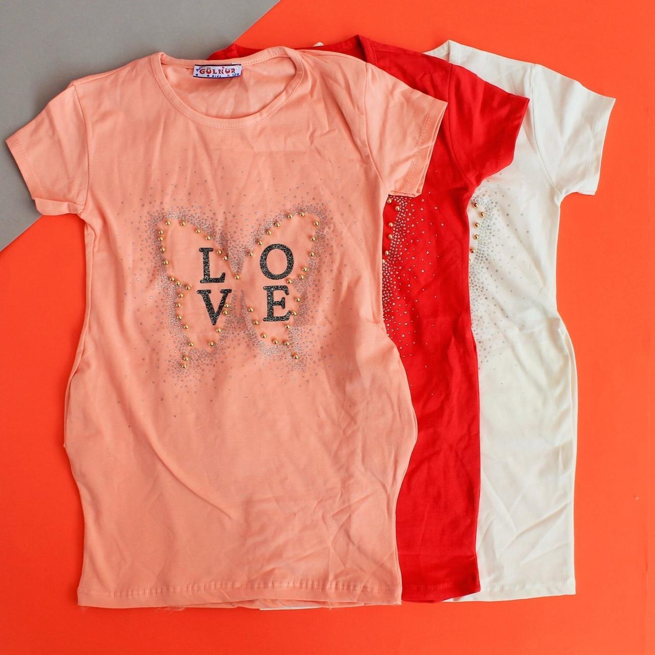 Туніка для дівчинки LOVE намистини розмір 128,152,164 см