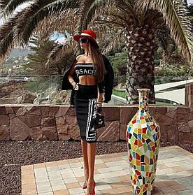Качество LUX!!! Женский костюм-двойка  Versace, производство Турция. Размеры : 42, 44, 46, 48.