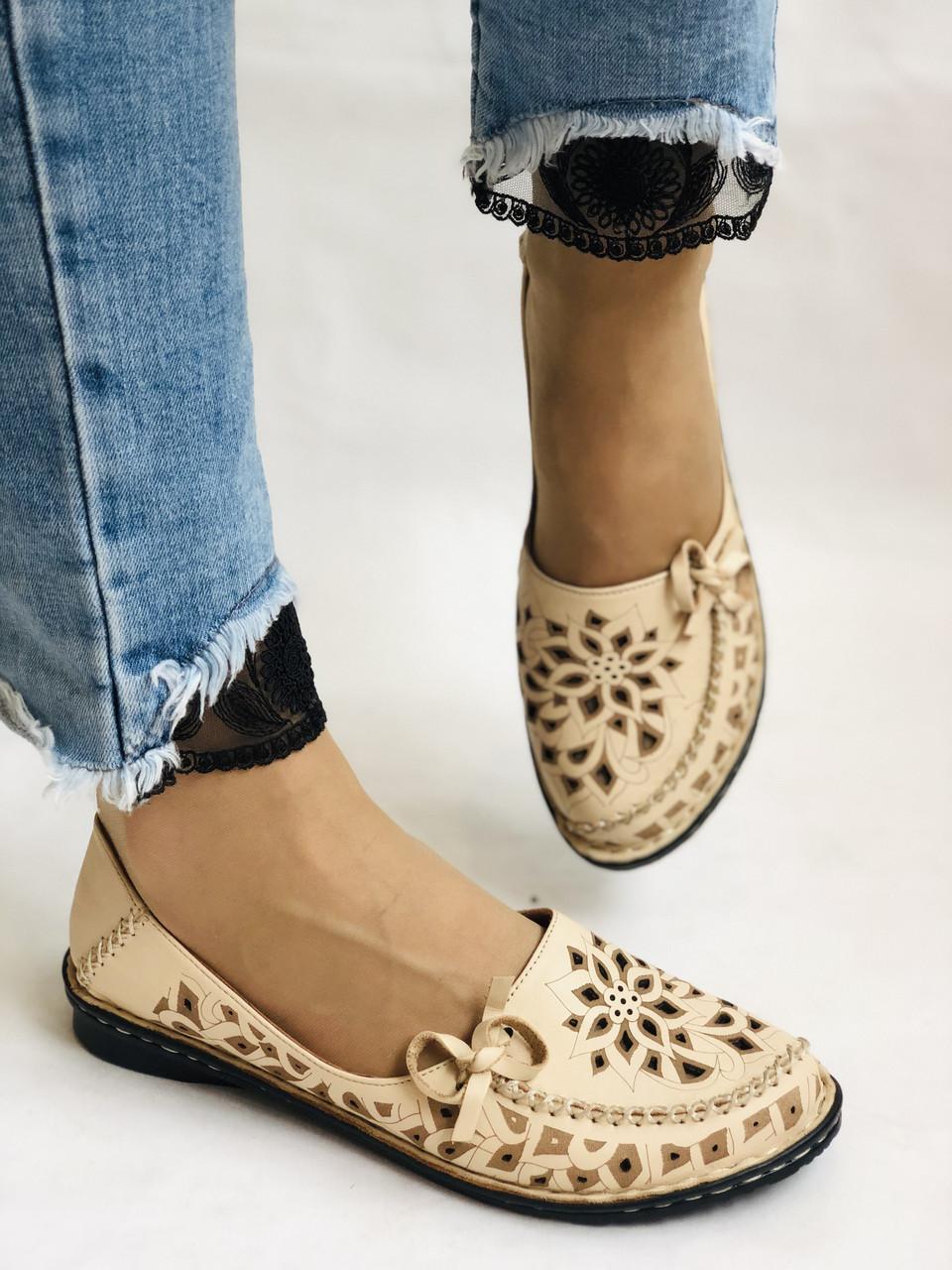 PSC. Удобные! Женские туфли -балетки из натуральной кожи.Турция. Размер 39 Супер комфорт.Vellena