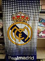 Махрово-велюрове пляжний рушник Реал Мадрид-2, 75*150, Туреччина