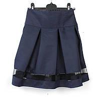 Юбка школьная синяя Шанель тм Vdags размер 128, фото 1