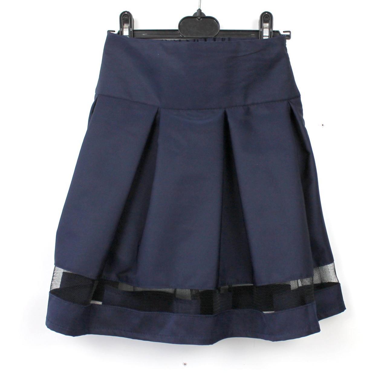 Юбка школьная синяя Шанель тм Vdags размер 128