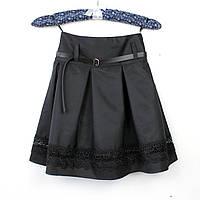 Юбка черная школьная Шанель кружево тм Vdags  размер 122,134, фото 1