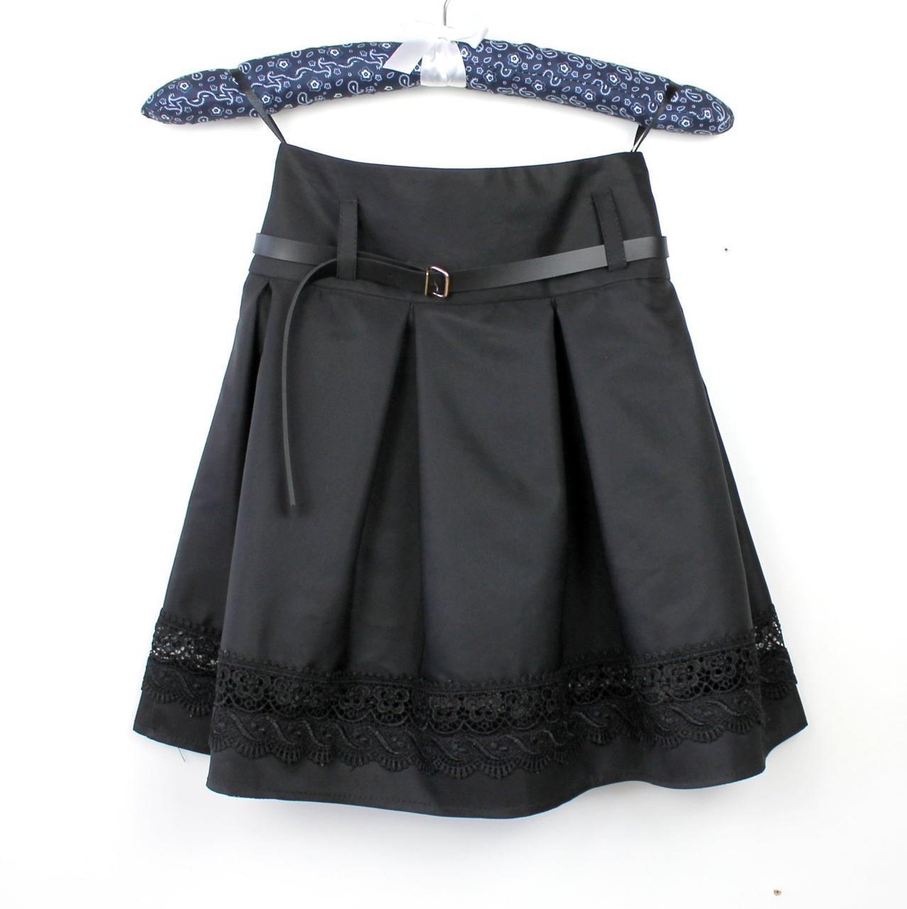 Юбка черная школьная Шанель кружево тм Vdags  размер 122,134