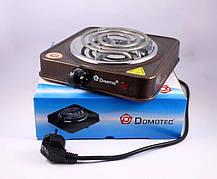Спиральная электроплита на одну конфорку с регулятором мощности  Domotec MS-5801 (1000 Вт), фото 3