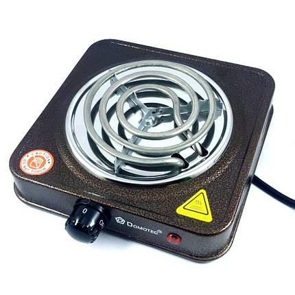 Спиральная электроплита на одну конфорку с регулятором мощности  Domotec MS-5801 (1000 Вт), фото 2