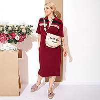 Женское трикотажное платье Поло (50-64)