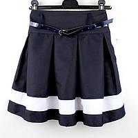 Юбка школьная синяя Корнелия тм Vdags размер 128,134,140, фото 1