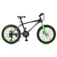 "Велосипед 20 д. EB20POWER 1.0   сталь.рама 13"",Shimano 18SP,алюм.DB,алюм.обод, 20""*4.0, ч"
