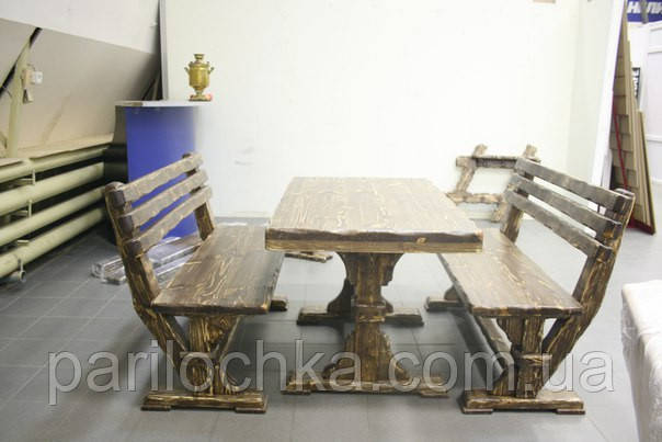 Комплект мебели ТАЙГА, длина 1.5 м из серии СОСТАРЕННАЯ МЕБЕЛЬ.