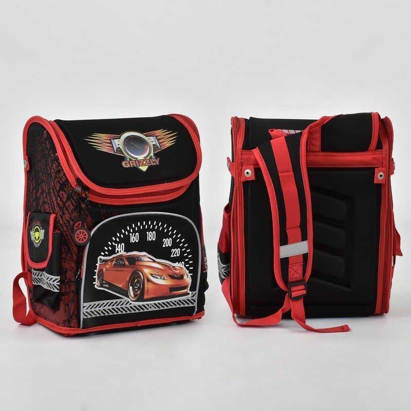 Каркасный детский рюкзак с машинкой