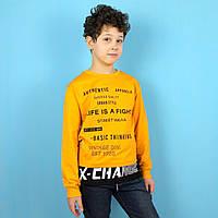 Детская кофта-свитшот мальчику X-Change желтый тм Benini размер 122,128