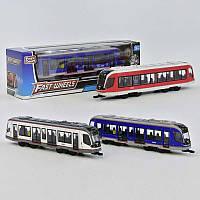 Трамвай металлопластик 3 вида, инерция, в коробке