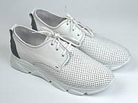Кросівки літні білі чоловічі шкіряні перфорація сітка Rosso Avangard Slipy White Star, фото 1