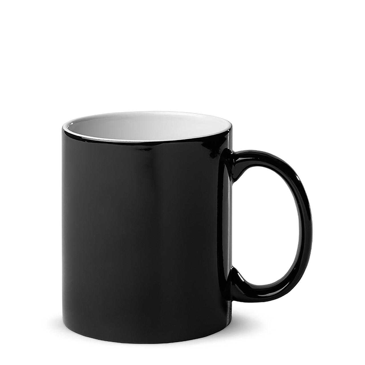 Чашка для сублимации хамелеон ГЛЯНЕЦ 330 мл (черный)