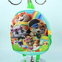 Детский Плюшевый рюкзак для девочки Котята тм Копиця