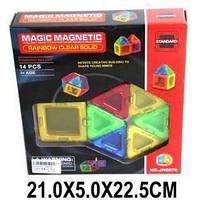 Конструктор магнітний, 14 дет., мікс кольорів, кор., 21-22-5 см.