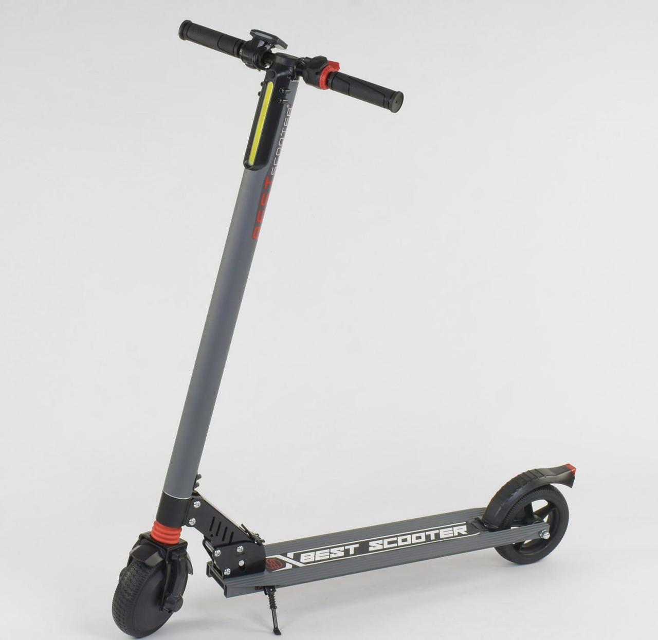 """Электросамокат """"Best scooter"""", колеса 6,5"""",  цвет серый"""