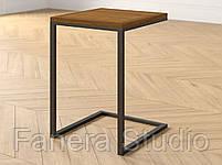 Стіл приставний на металевому каркасі, фото 2