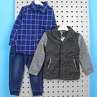 Теплый костюм для мальчика: пиджак и джинсы тм тм Grace размер 98