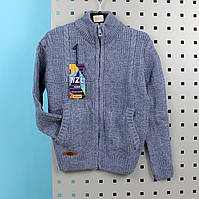 Кофта вязаная для мальчика голубая тм NZL Kids размер 12-13,14-15 лет