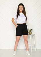Стильные женские шорты большие размеры черный