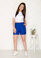 Стильные женские шорты большие размеры электрик