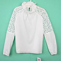 Блузка белая длинный рукав тм Angel длинный рукав размер 140