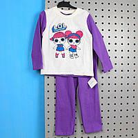 Пижама детская ЛОЛ фиолетовая размер 98,110,128,134